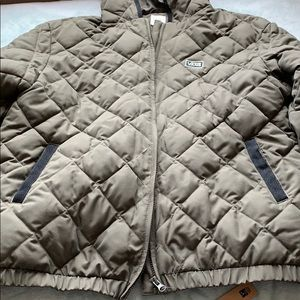 New vans green down puffer quilted jacket coat
